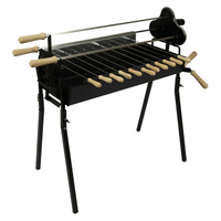 Cyprus Grill Deluxe Auto (Black) Genuine Product (Made in Cyprus) - CG-0704 Greek/Cypriot BBQ Kontosouvli/Souvla, Foukou. Charcoal Grill & Rotation