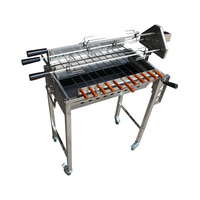 Cyprus Grill with height adjustment Stainless Steel BBQ Spit Rotisserie