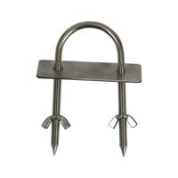 S/S Back Brace U Bolt with Wing Nut & Plate For BBQ Rotisserie Spit x 2 *Special Deal* - LBB-3080K