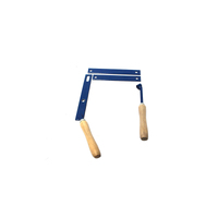 The BBQ Store Wooden Handle - With Lever and Nut Pack (Blue)