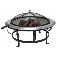 Fire Up - Deluxe Firepit Stainless Steel Bowl with Protective Mesh Screen
