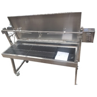 A Frame Stainless Steel Charcoal Rotisserie BBQ Spit (1.3mtr) with 25kgs capacity Motor!!