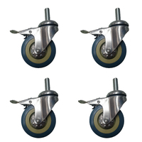 BBQ Wheels Set of 4 - Build your own spit rotisserie - Handles up to 10kg per wheel!!! - Wheels