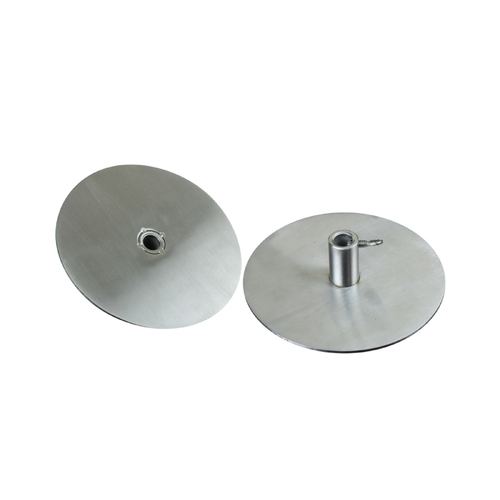 Cyprus Grill Gyro Plate Stainless Steel (Set of 2) - Round 10cm disc Diameter